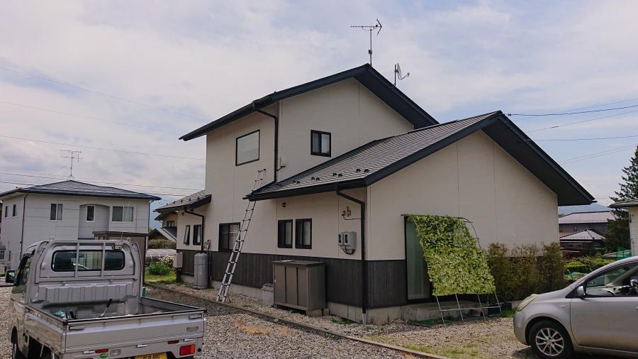 駒ヶ根市にて 屋根塗装工事をお考えの方へ 足場組立編