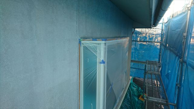 飯田市松尾外壁塗装下塗り1