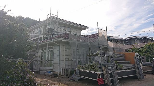 駒ケ根市下平外壁塗装足場3