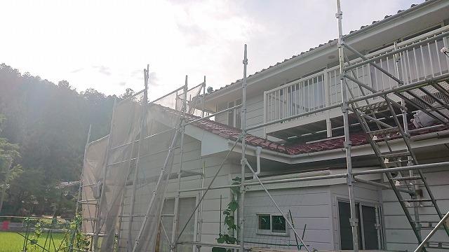 駒ケ根市下平外壁塗装足場4