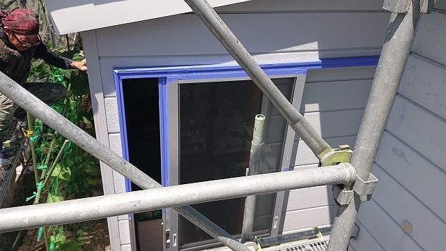 駒ケ根市下平外壁塗装養生3