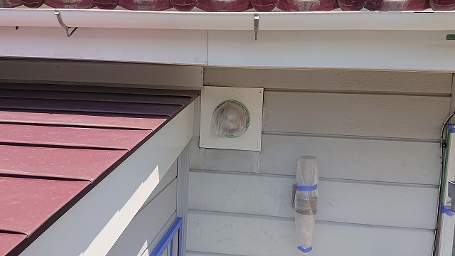 駒ケ根市下平外壁塗装養生4