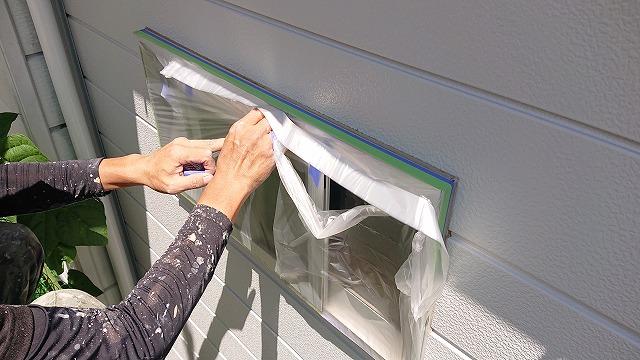 駒ケ根市下平外壁塗装養生5