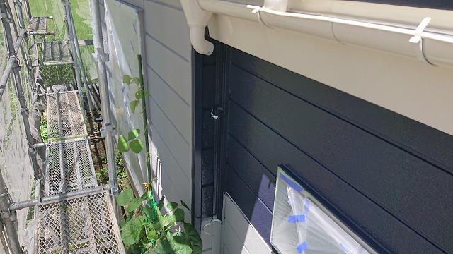 駒ケ根市下平外壁塗装中塗り5