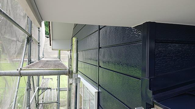 駒ケ根市下平外壁塗装上塗り4