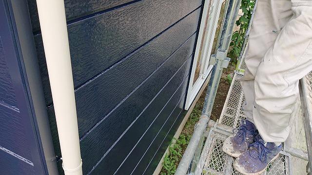 駒ケ根市下平外壁塗装上塗り6