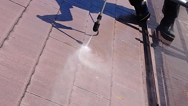 駒ケ根市コロニアル塗装洗浄6