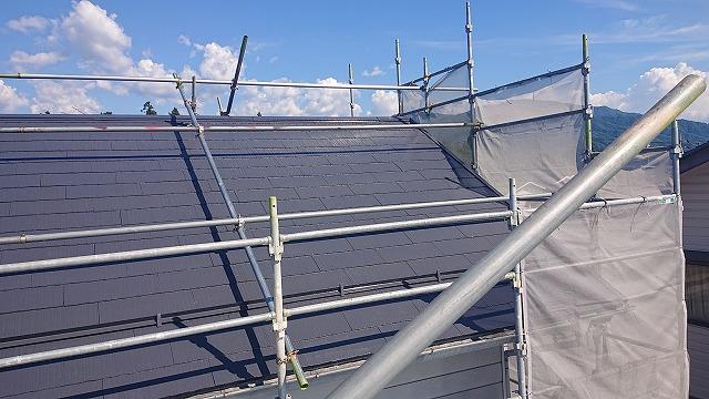 駒ケ根市遮熱塗料屋根完成5