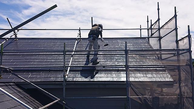 駒ケ根市遮熱塗料屋根完成6