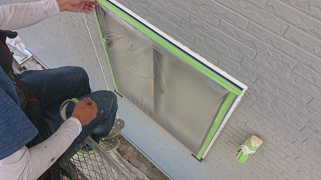 駒ケ根市屋根壁遮熱養生1