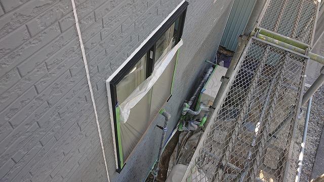 駒ケ根市屋根壁遮熱養生2