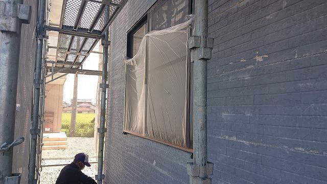 駒ケ根市屋根壁遮熱養生4