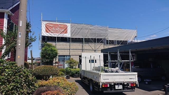 長野県駒ケ根市で行う窯業系コロニアル屋根の板金カバー工事 ルーフィング貼り