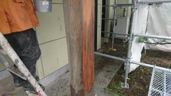 木部アク洗い柱