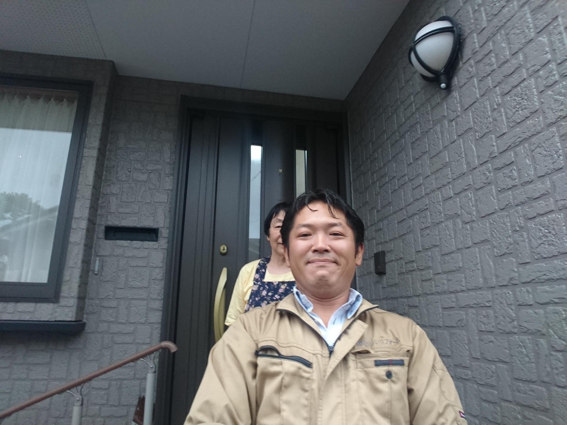 飯田市諏訪町 K様邸 築15年でクリア外壁塗装工事しました。