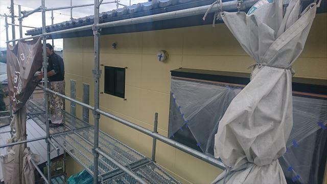 長野県駒ヶ根市赤穂 ALC外壁塗装上塗り2