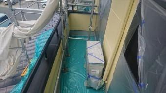長野県駒ヶ根市赤穂 ALC外壁塗装上塗り5