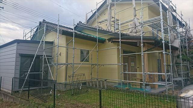 長野県駒ヶ根市赤穂 ALC外壁塗装工事上塗り1