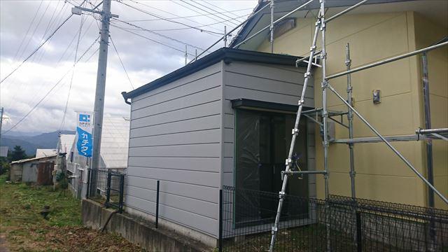 長野県駒ヶ根市赤穂 ALC外壁塗装上塗り6