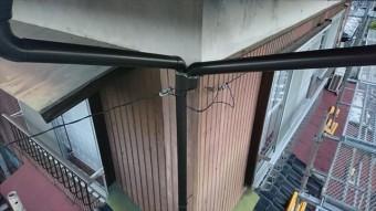 飯田市鼎雨樋交換縦樋1