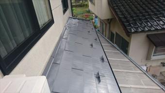 飯田市鼎 トタン屋根塗装ウッドピース完成4
