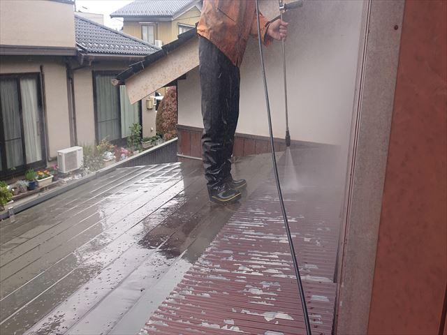 長野県駒ケ根市トタン屋根塗装洗浄1