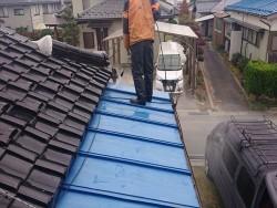 長野県駒ケ根市トタン屋根塗装洗浄4
