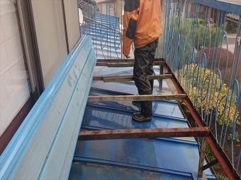 長野県駒ケ根市トタン屋根塗装洗浄6