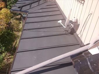 長野県駒ケ根市トタン屋根下塗り6