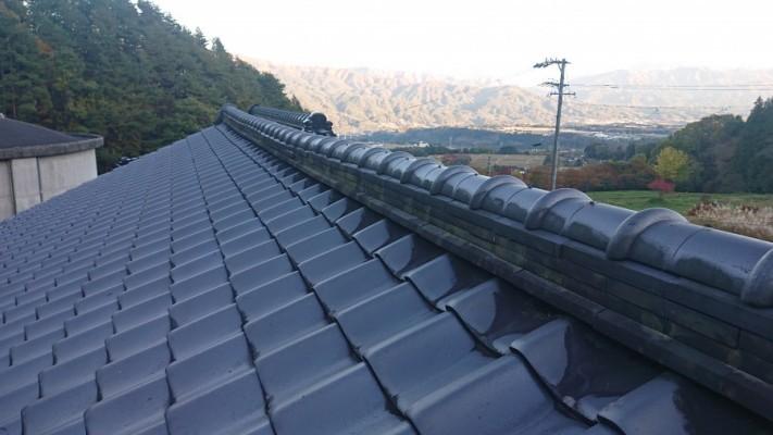 長野県飯島町火災保険対応棟瓦修繕現調4