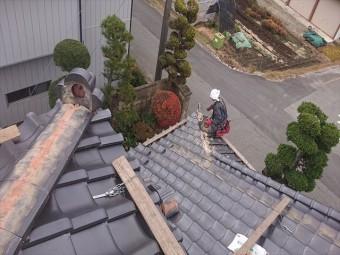 長野県飯島町鬼落下棟撤去9