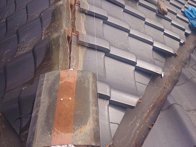 上伊那郡飯島町本郷、火災保険対応の棟瓦補修工事が完成しました!!