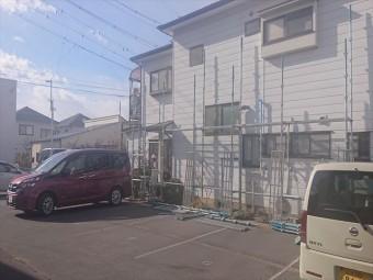 長野県松本市元町屋根板金足場4