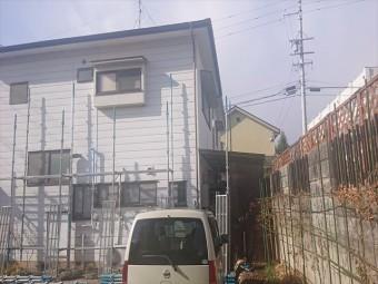長野県松本市元町屋根板金足場5