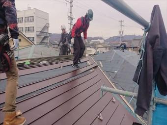 長野県松本市元町屋根コロニアルカバー板金12