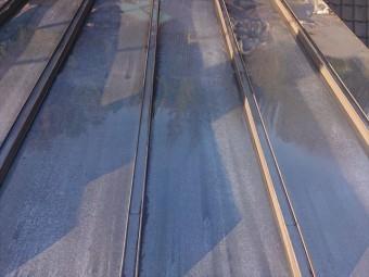長野県下條村トタン屋根洗浄6