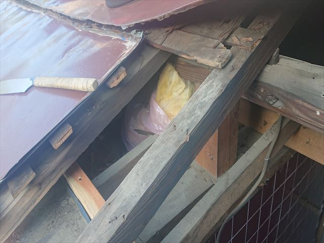 下條村下屋根張替え6