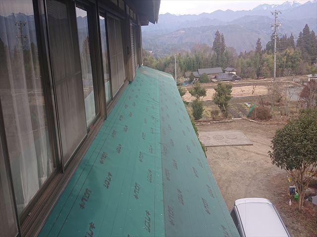 下條村下屋根張替え15