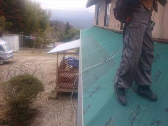 下條村下屋根張替え18