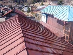 飯田市大瀬木トタン屋根洗浄3
