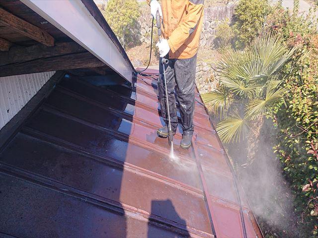 飯田市大瀬木トタン屋根洗浄7
