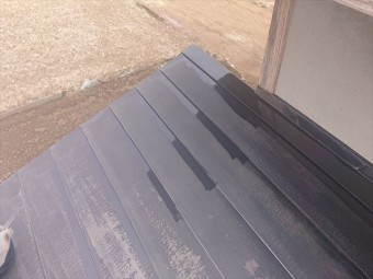 下伊那郡下條村トタン屋根塗装ダメ込み2