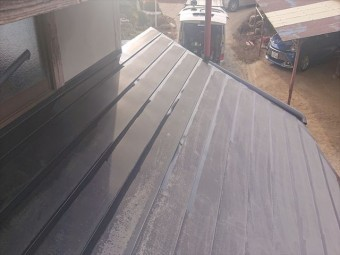 下伊那郡下條村トタン屋根塗装ダメ込み3
