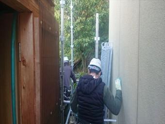 下條村外壁トタン屋根塗装足場6