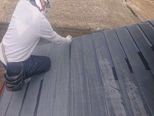 下伊那郡下條村トタン屋根塗装ダメ込み4