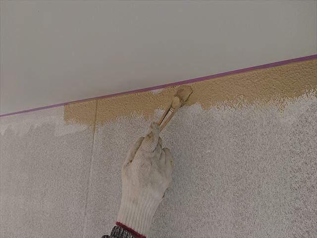 下條村外壁中塗り1