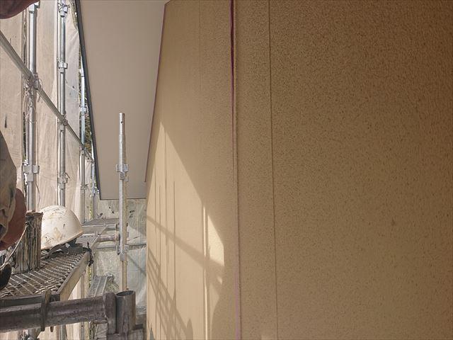 下條村外壁中塗り5