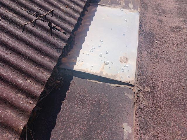 高森町雨漏れトタン屋根現調3