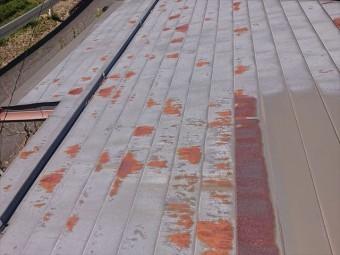 高森町雨漏れトタン屋根現調6