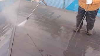飯田市駄科トタン屋根外壁洗浄4